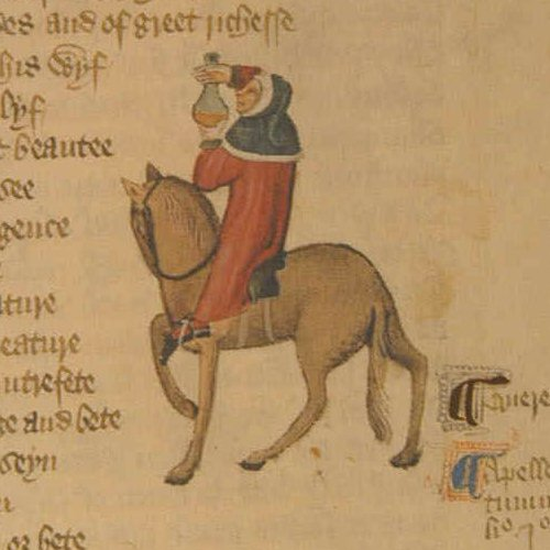 """chaucer parody Of chaucer's genius, is an extended """"dramatis personae"""" for the collection of tales in it, chaucer presents his characters, one by one, in a series of vivid, detailed, and lifelike portraits, and also sets."""