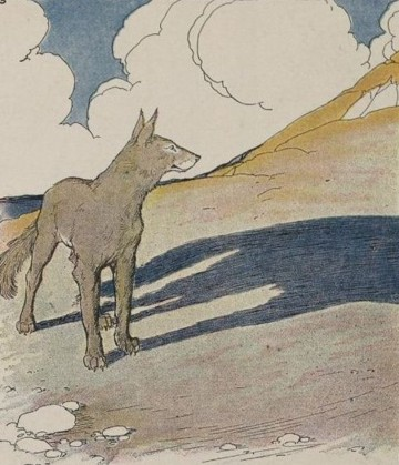 27 the wolf and his shadow aesop for children 1919