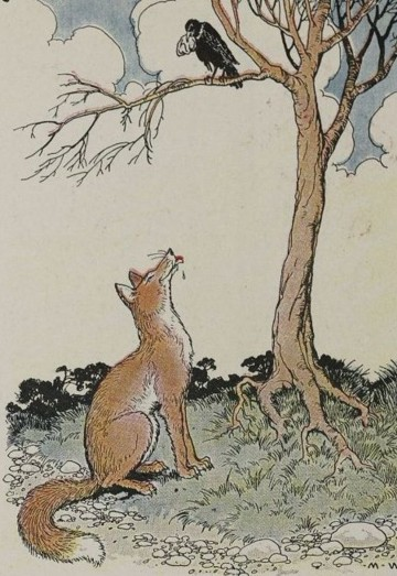 130 The Fox And The Crow Aesop For Children 1919