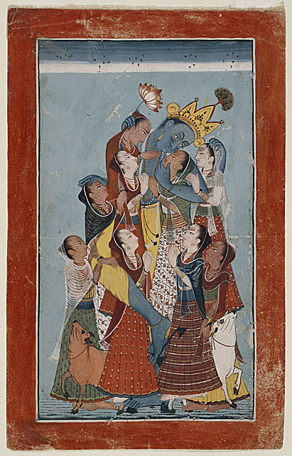 Krishna Embracing the Gopis